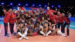Equipo de voleibol femenino de la República Dominicana.
