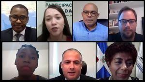 Panelistas del webinar Dominicanas y dominicanos, pero sin derechos.