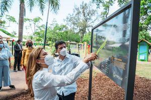Trabajos de remozamiento, tales como la señalización del entorno del parque.