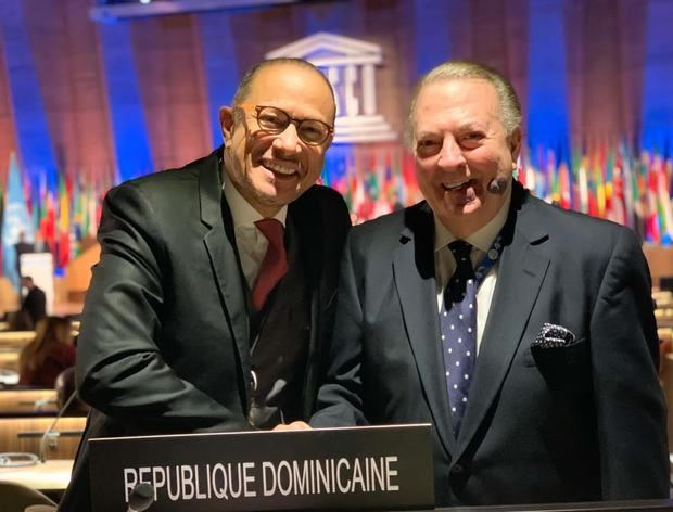 El embajador dominicano ante la UNESCO, José Antonio Rodríguez y el Ministro de Cultura, Eduardo Selman, participan en la hoy lunes 18 de noviembre.