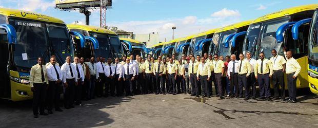 Choferes de la empresa de transporte Caribe Tours.
