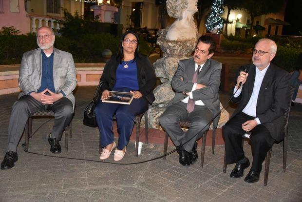 Pedro Vergés, Tony Raful y Cayo Claudio Espinal.