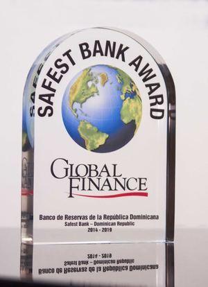 Solo Banreservas ha ganado el premio de Banco Más Seguro seis veces consecutivas hasta el 2019, cada año desde el 2014, cuando se agrega por primera vez la República Dominicana en la lista de países calificados a participar en esta categoría.