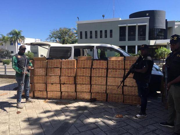Organismos interceptan 610 mil unidades de cigarrillos en acción conjunta