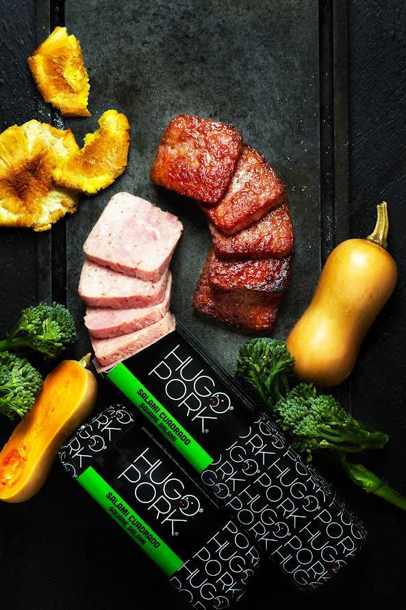 Hugo Pork lanza salami cuadrado.