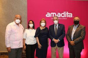 José Silie Ruiz, Belkis Billini, Dra. Patricia Gonzalez Pittaluga, José Joaquín Puello y Dr. José Miguel Gómez.