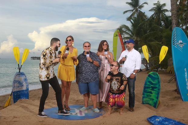 """""""El Gordo y la Flaca"""", en el hotel Viva Wyndham Dominicus Beach ubicado en Las Terrenas, ciudad turística de la península de Samaná."""
