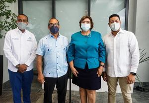Daniel Mercado, José Ramón Torres, Dania Goris y Juan de Dios Valentín.