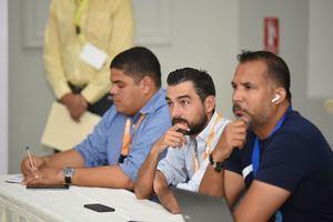 Algunos asistentes al primer taller para periodistas sobre la estrategia Marca País.