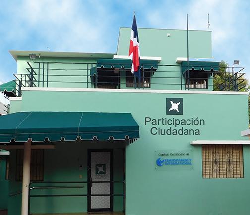 Vista de la fachada del edificio de la sede de Participación Ciudadana.