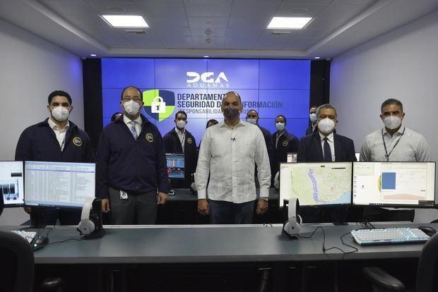 El director general de Aduanas (DGA), Enrique A. Ramírez Paniagua, dejó inaugurado el Centro de Operaciones de Seguridad de la institución (conocido como SOC, por sus siglas en inglés)