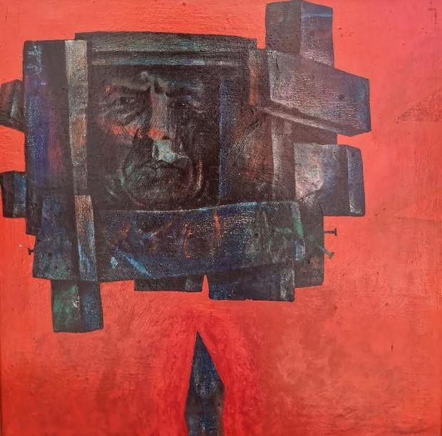 Autorretrato del maestro Ramón Oviedo.