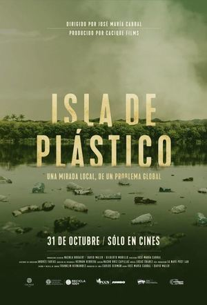 Afiche Isla de Plástico.