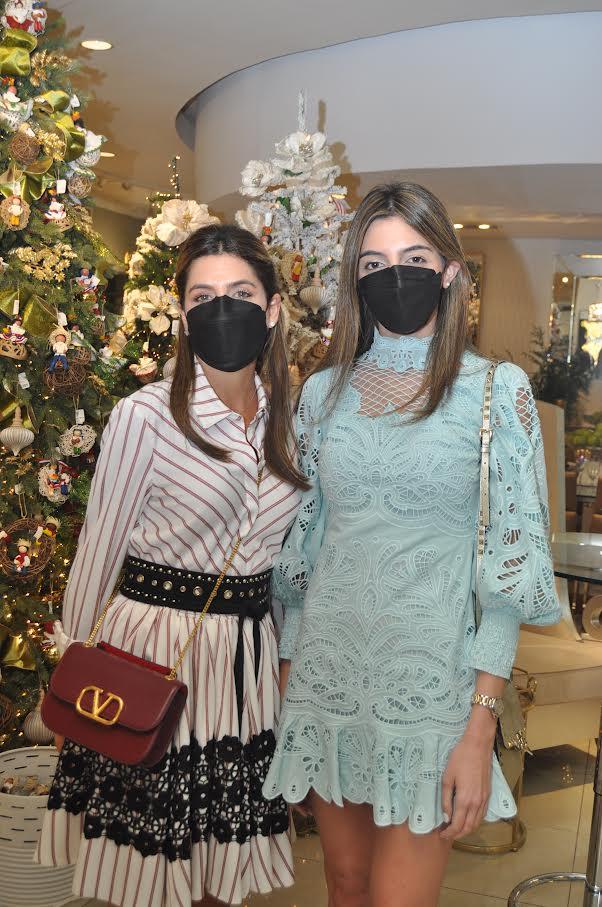 Aimee Arbaje y Cristina Espinal.