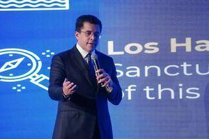 Ministro de turismo, David Collado presentó el destino República Dominicana a más de 200 agencias de viajes.