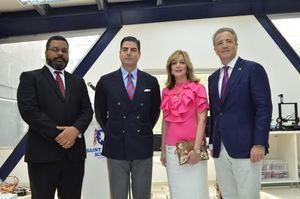 Miguel Franjul Pérez, Luis Arturo Carbuccia, Maria W. Álvarez y Antón Tejeda.