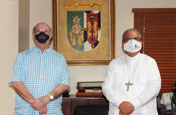 Monseñor Benito Ángeles y el Ing. Hipólito Mejía renuevan convenio para Postgrado y Diplomado