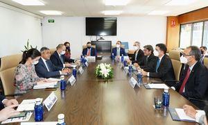 El encuentro tuvo lugar en la sede de la OMT, en Madrid.