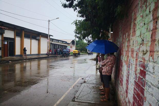Lluvias en Santo Domingo.
