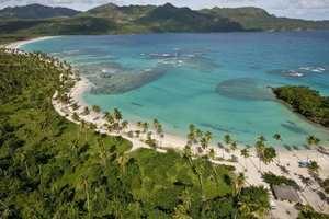 Vista aérea de la Bahía de Samaná.