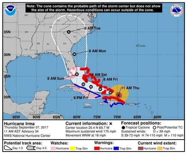 Bandas nubosas asociadas a Irma inciden en territorio nacional