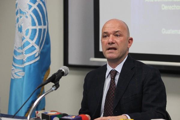 Alberto Brunori, funcionario de las Naciones Unidas.