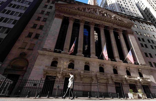 Vista de la sede de la Bolsa de Nueva York.