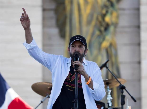 En la imagen el cantante Juan Luis Guerra.