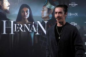El actor Óscar Jaenada durante la presentación de la nueva serie de Amazon ''Hernán'', en Madrid.