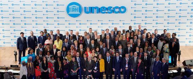 Ministros de cultura en la UNESCO.