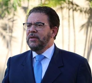El candidato presidencial por Alianza País, Guillermo Moreno.