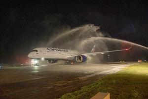 Arribo de Aerflot al Aeropuerto Internacional de Punta Cana, PUJ. con reapertura de ruta desde Moscú-Punta Cana.