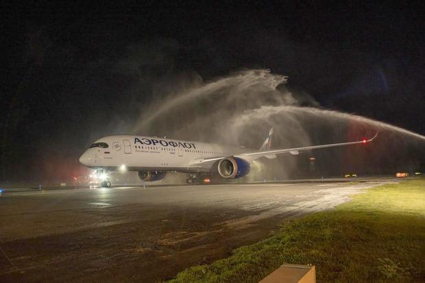 Aeroflot aterriza con reapertura de ruta desde Moscú en el Aeropuerto Internacional de Punta Cana