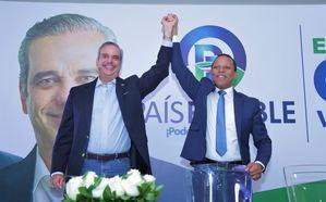 Candidato presidencial Luis Abinader y Milton Morrison quien apoya junto a otros 6 partidos y dirigentes la candidatura de Abinader.