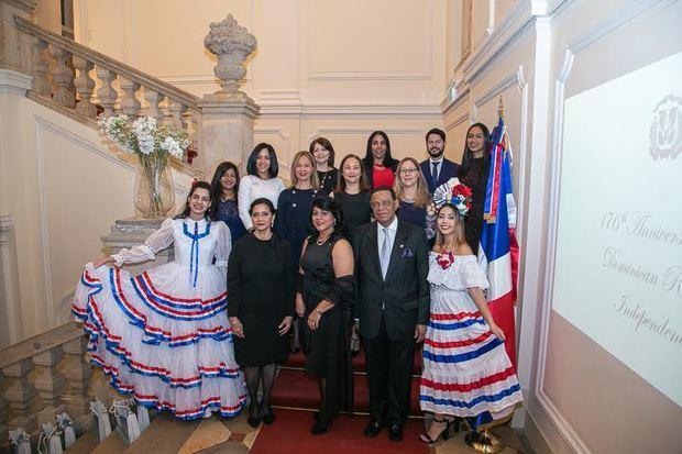 Embajada Dominicana en Austria celebra 176º aniversario de la Independencia