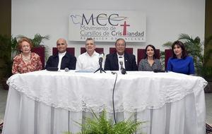 Noris Núñez de Bello, R.P. Robert Brisman, César Curiel, Mons. Faustino Burgos Brisman, María Laura Sánchez de Simó y Kim Resek de Langa.