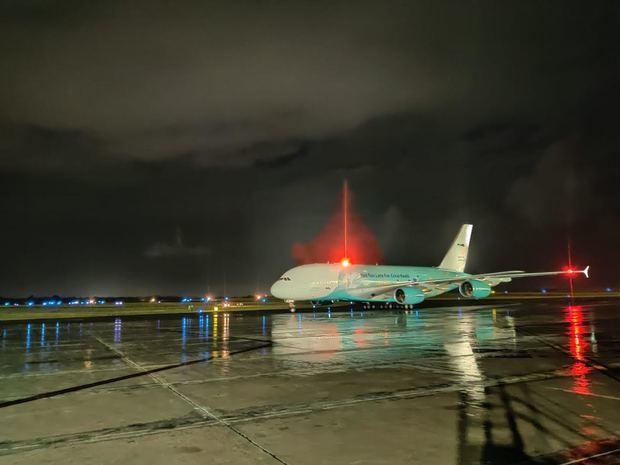 IDAC informa el arribo del avión más grande del mundo trajo materiales para combatir el Covid-19