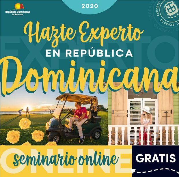 """Volante virtual del seminario """"Especialista en República Dominicana""""."""