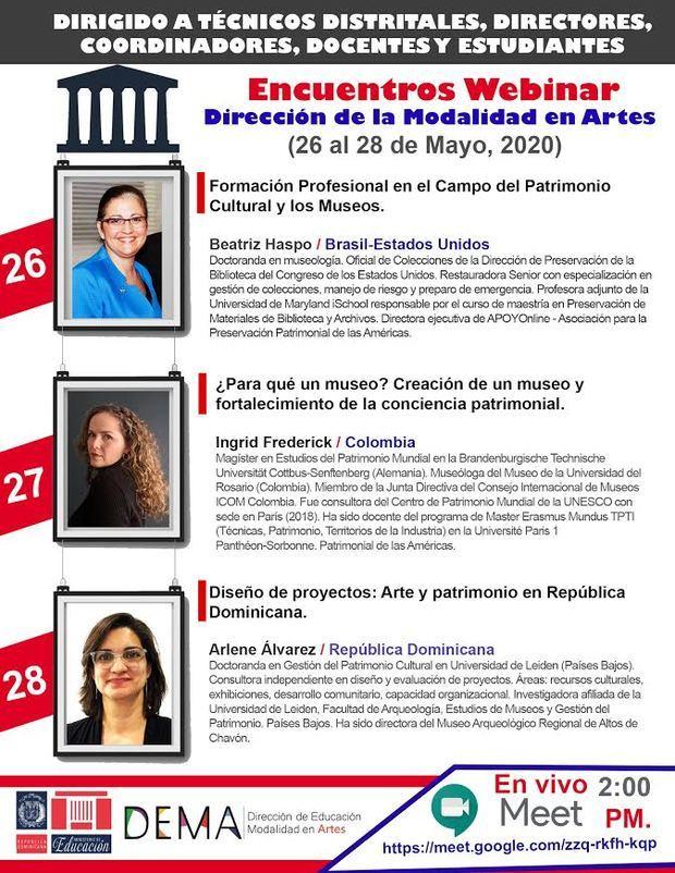Minerd realizará encuentros webinar dirigidos al sector de Modalidad en Artes