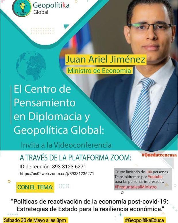"""Volante virtual del encuentro """"Políticas de reactivación de la economía post Covid-19: Estrategias de Estado para la resistencia económica."""