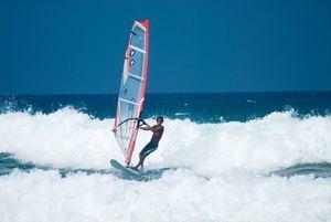 Windsurfer en Cabarete.
