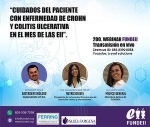 FUNDEII realiza Webinar sobre cuidados del paciente con enfermedad de Crohn y Colitis Ulcerativa