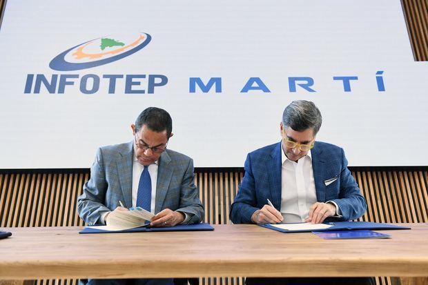INFOTEP y MARTÍ suscriben alianza impulsará Formación Dual