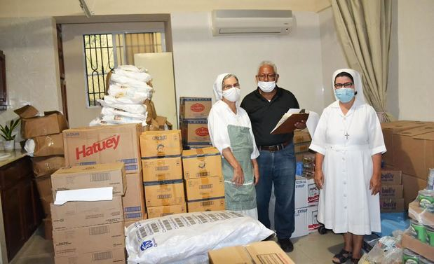 CONAPE entregó alimentos, proteínas, suplementos a todos los asilos y a los hogares en el país