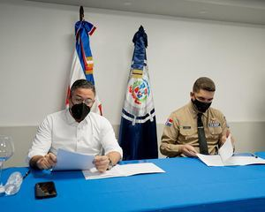 APORDOM  y CESEP firman acuerdo interinstitucional que garantiza pagos para continuar mejoras en la seguridad de los puertos del país.