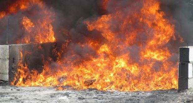 Procuraduría incinera droga incautada próximo al Puerto Caucedo y otras zonas del país