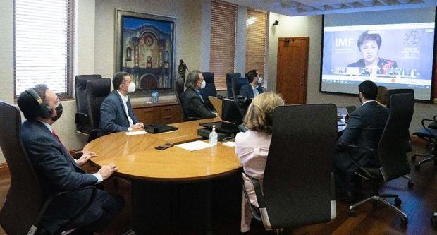 Gobernador del Banco Central participa en un encuentro con la directora gerente del FMI y autoridades del hemisferio occidental
