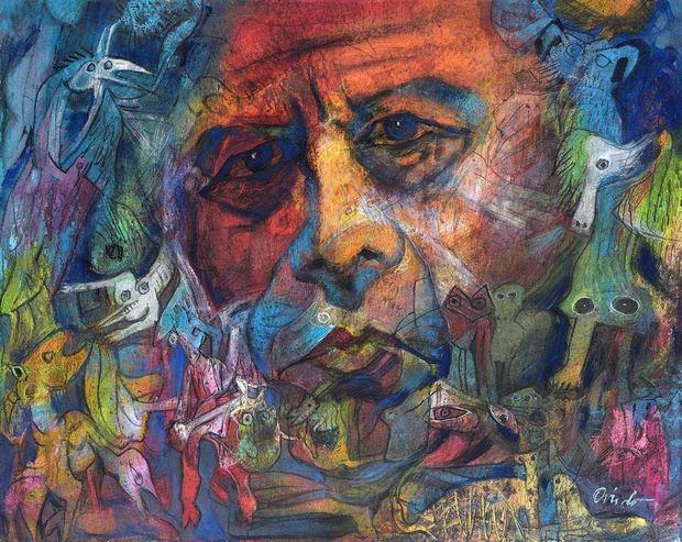 Mi mundo, cuadro del pintor dominicano Ramón Oviedo.