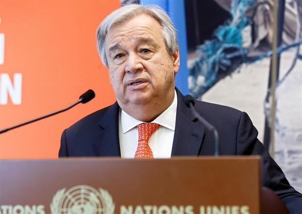 En la imagen un registro del secretario general de las Naciones Unidas, António Guterres, quien dijo estar 'consternado' por el creciente número de víctimas civiles en el conflicto entre palestinos e israelíes.