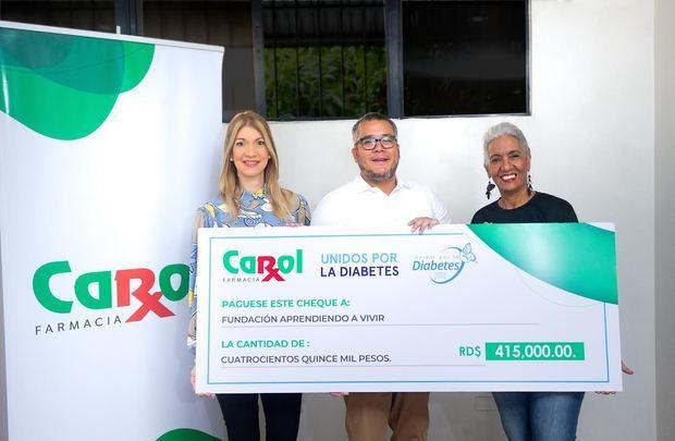 Farmacia Carol entrega donación a fundación Aprendiendo a Vivir